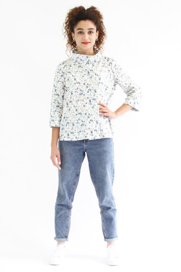 I AM Patterns - patron de couture chemise robe Libellule - chemise fleurie devant