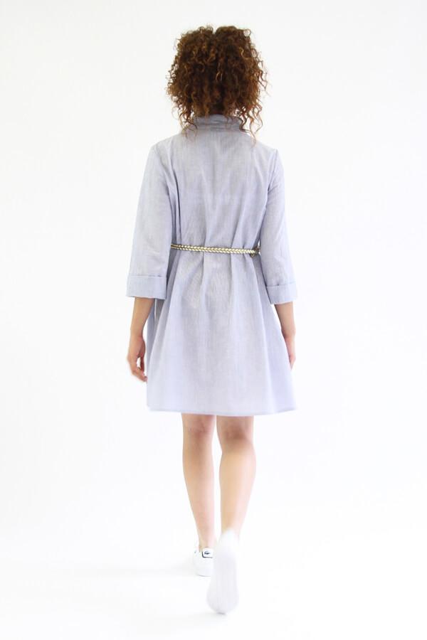 I AM Patterns - patron de couture chemise robe Libellule - violette dos ceinture