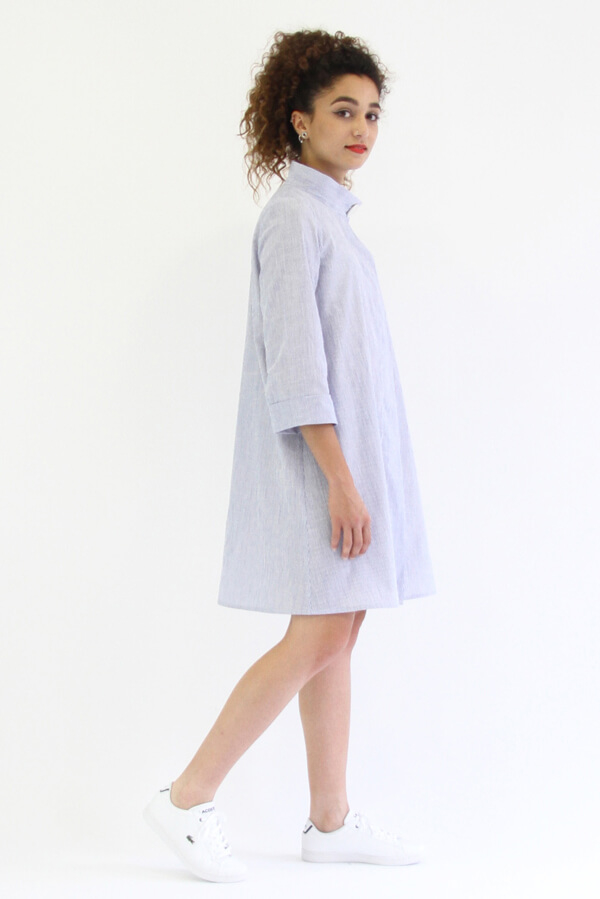 I AM Patterns - patron de couture chemise robe Libellule - violette robe profil