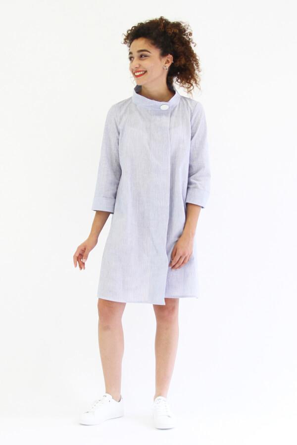 I AM Patterns - patron de couture chemise robe Libellule - violette robe devant