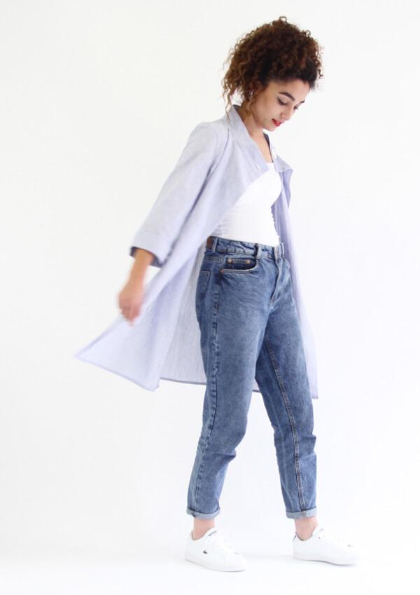 I AM Patterns - patron de couture chemise robe Libellule - violette ouverte