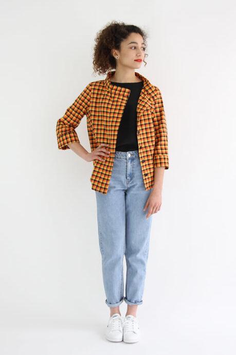 I AM Patterns - patron de couture chemise robe Libellule - Malika chemise devant