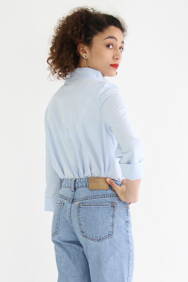 I AM Patterns - patron de couture chemise robe Libellule - bleue dos profil