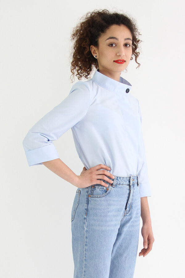 I AM Patterns - patron de couture chemise robe Libellule - bleue devant profil