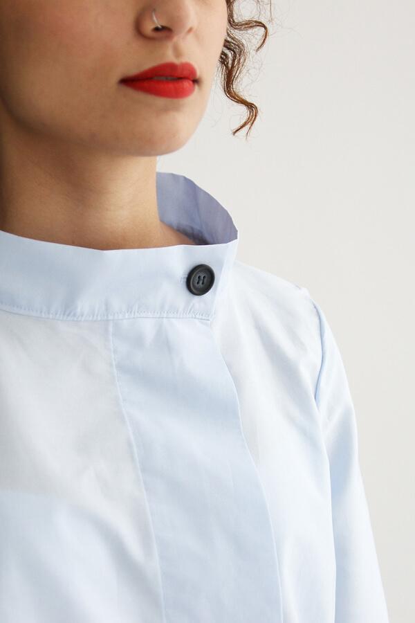 I AM Patterns - patron de couture chemise robe Libellule - bleue detail col