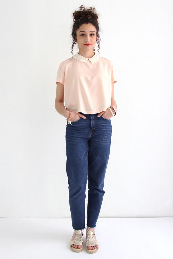 I AM Patterns - Sewing pattern - Juliette shirt - Front