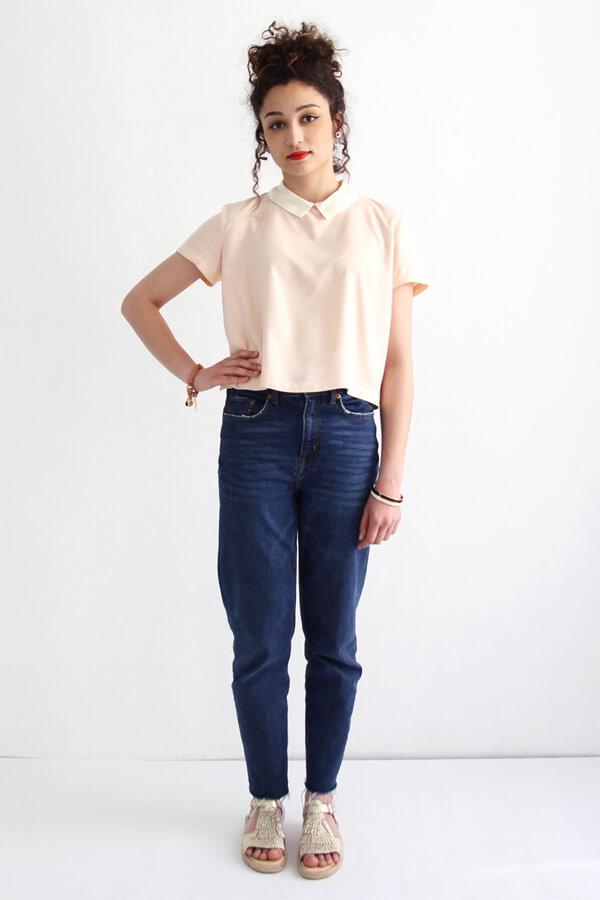 I AM Patterns - Sewing pattern - Juliette shirt - Front 2