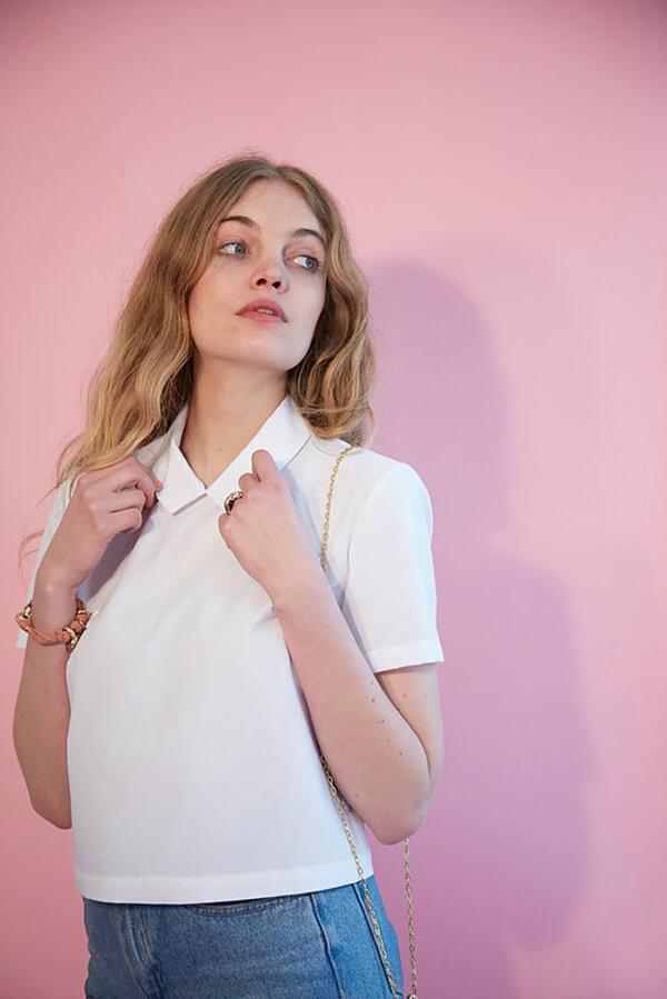 I AM Patterns - Sewing pattern - Juliette shirt - Front 3