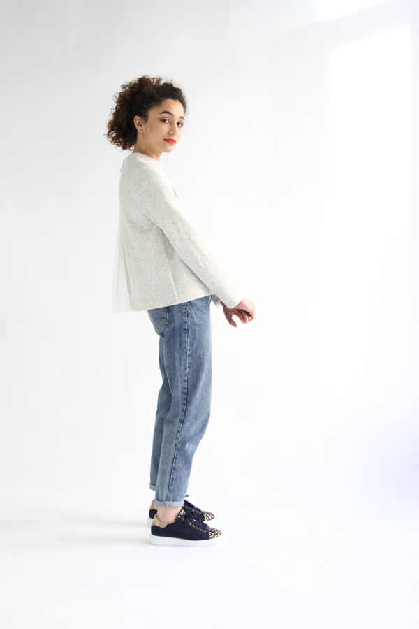 I AM Patterns - Sewing pattern Sirius White Jumper - profile