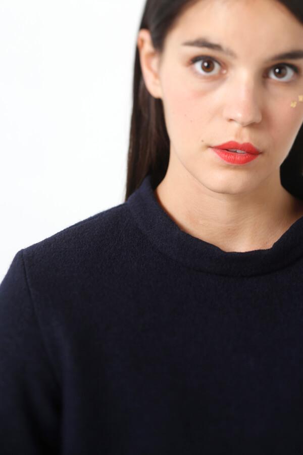I AM Patterns - Sewing pattern Sirius Navy Jumper - Zoom neckline