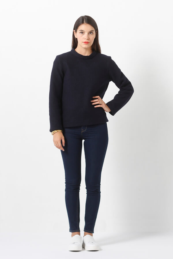 I AM Patterns - Sewing pattern Sirius Navy Jumper - Front
