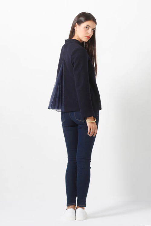 I AM Patterns - Sewing pattern Sirius Navy Jumper - Back