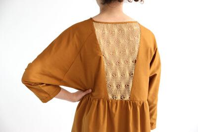 I AM Patterns patron de couture robe Cassiopée variante découpe dos zoom
