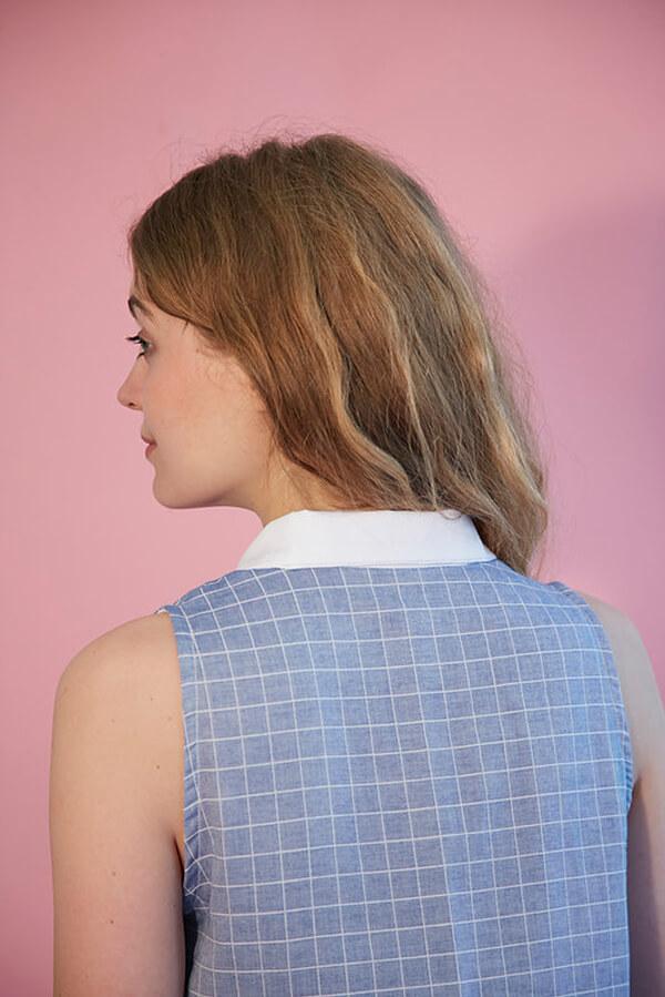 I AM Patterns - Sewing pattern Venus shirt dress - back
