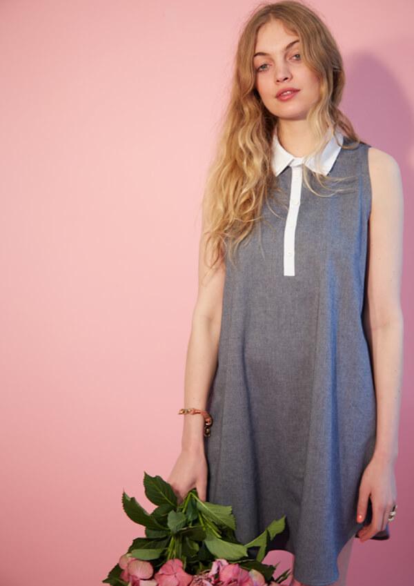 I AM Patterns patron de couture robe chemise évasée venus devant jean