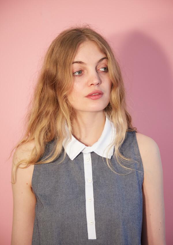 I AM Patterns patron de couture robe chemise évasée venus devant jean zoom