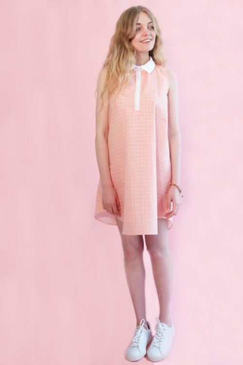 I AM Patterns patron de couture robe chemise évasée venus devant rose