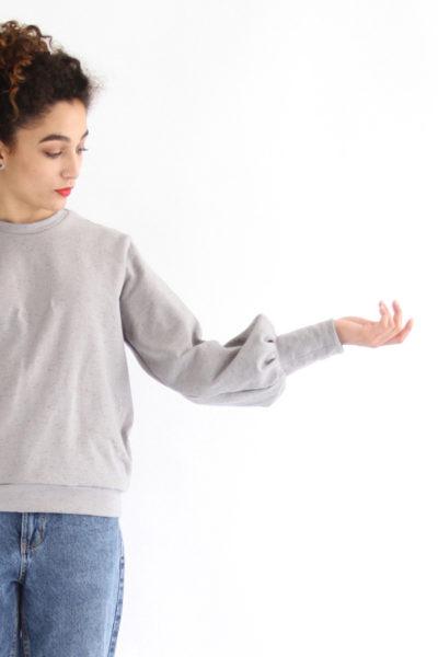 I AM Patterns - Sewing pattern Zebre balloon sweatshirt - Detail sleeve