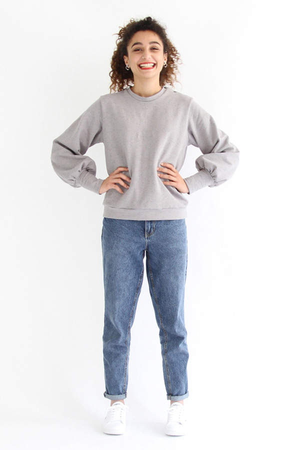 I AM Patterns - Sewing pattern Zebre balloon sweatshirt - Front 3