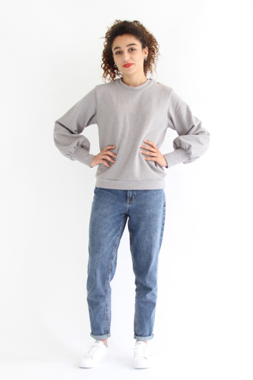 I AM Patterns - Sewing pattern Zebre balloon sweatshirt - Front