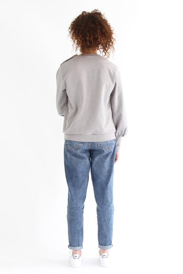 I AM Patterns Patron De Couture Sweatshirt Zebre Dos