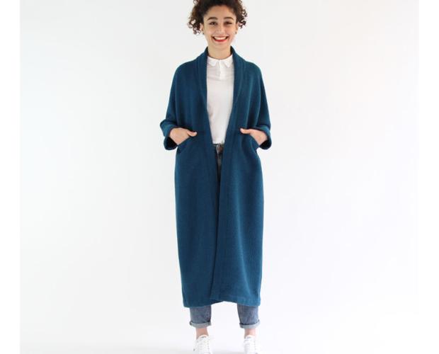 I AM Patterns - patron de couture veste Artemis variante manteau long