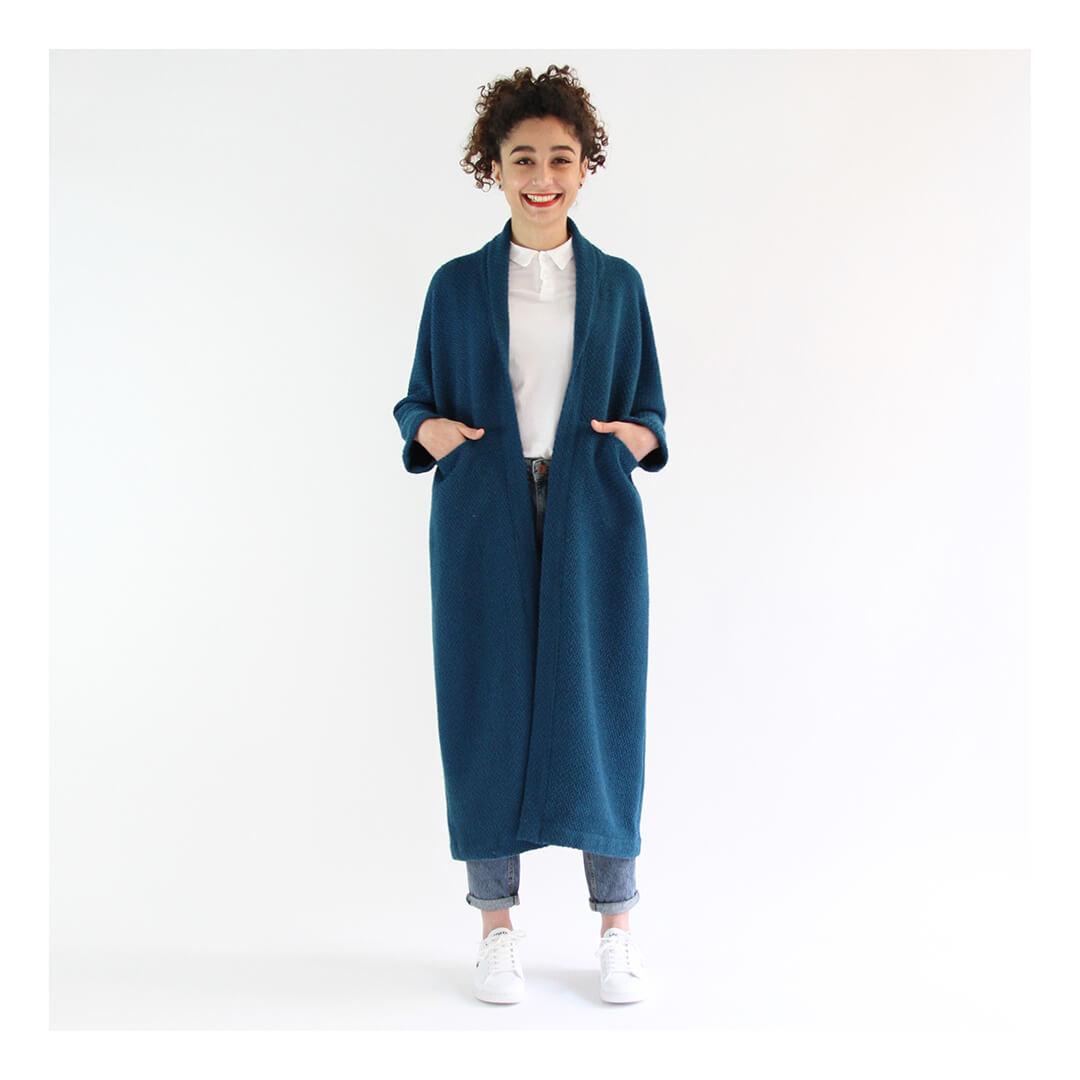 I AM Patterns sewing pattern artemis jacket hack long coat banner