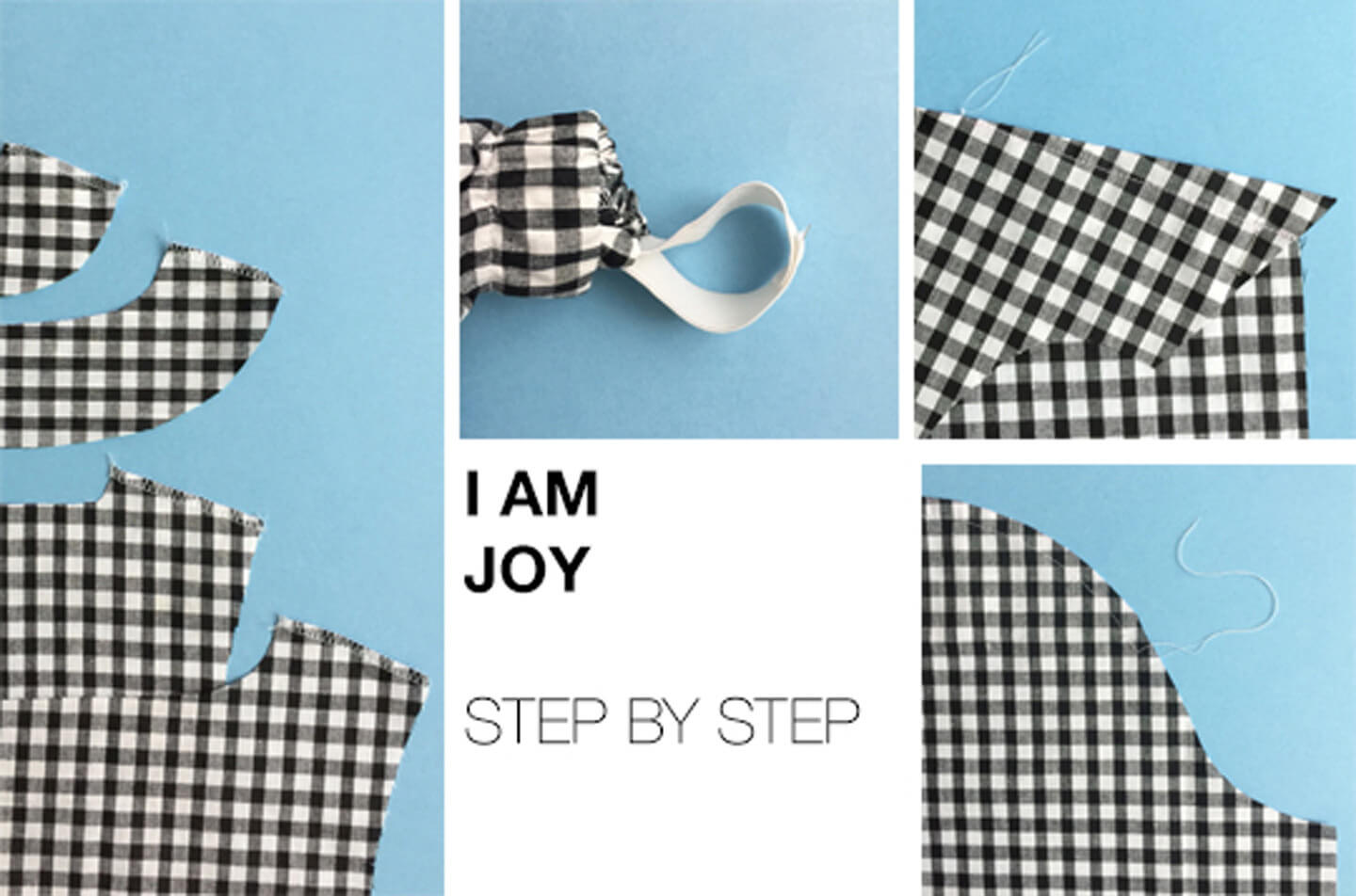 I AM patterns - sewing pattern how to sew blouse Joy banner