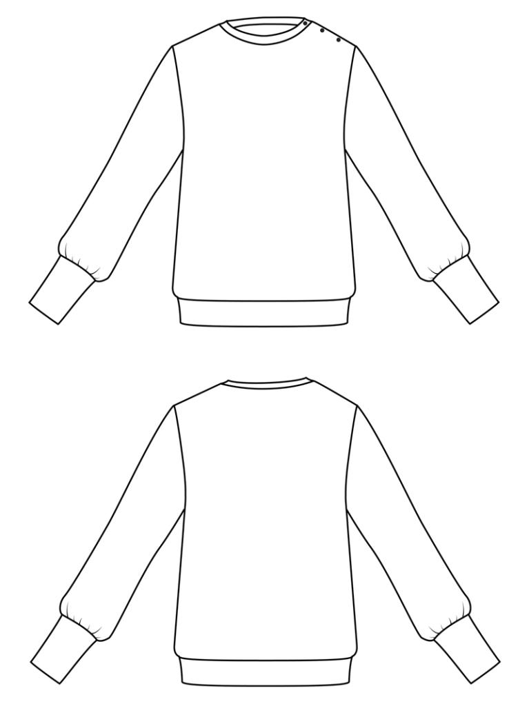 I AM Patterns sewing patterns Zebre sweatshirt balloon sleeve hack banner