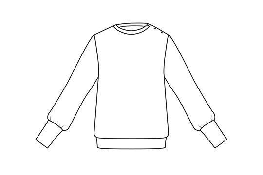 I AM Patterns - patron de couture sweatshirt Zèbre variante manches étroites