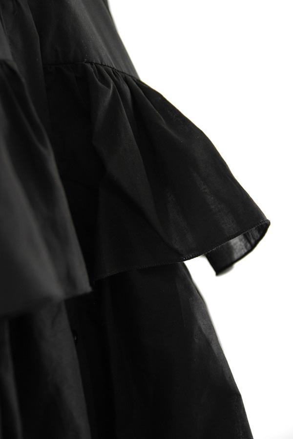 I AM Patterns - Sewing pattern Magdala Ruffles dress - ruffles zoom