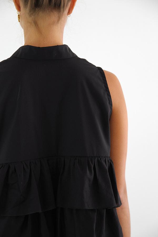 I AM Patterns - Sewing pattern Magdala Ruffles dress - back zoom
