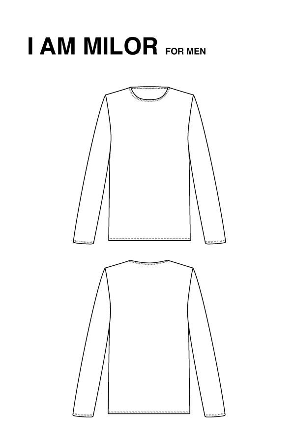 I AM Patterns Milor T Shirt Mancheslongues Hommes Dessin Technique