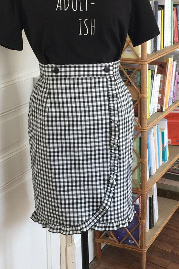 I AM Patterns Sewing Pattern Malo Skirt Added Ruffles Free Extension
