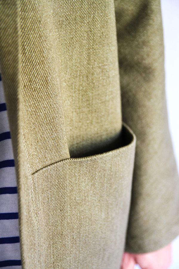 I AM Patterns - Men sewing pattern - Artemis jacket detail pocket zoom