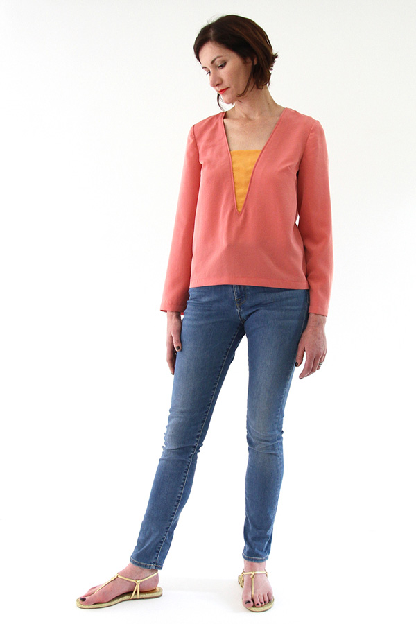 I AM Patterns Patron Couture Blouse Flora