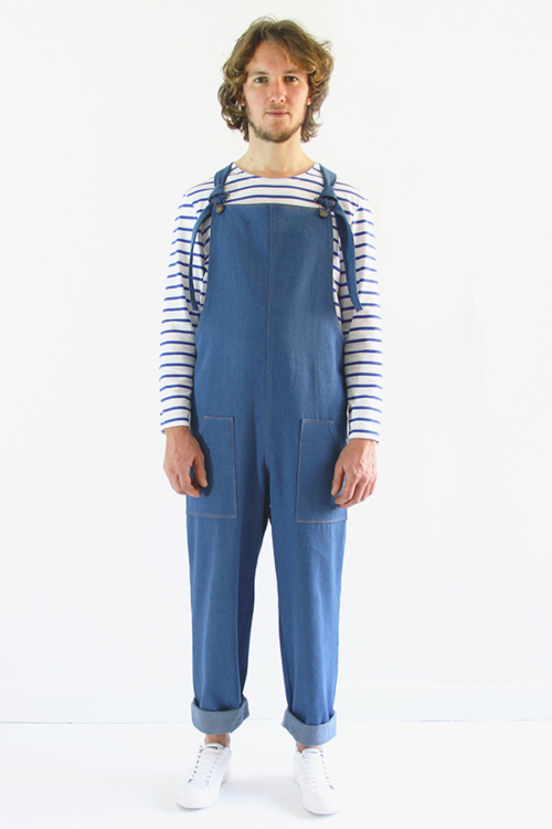 I AM Patterns - Men sewing pattern - Colibri dungarees - front 2