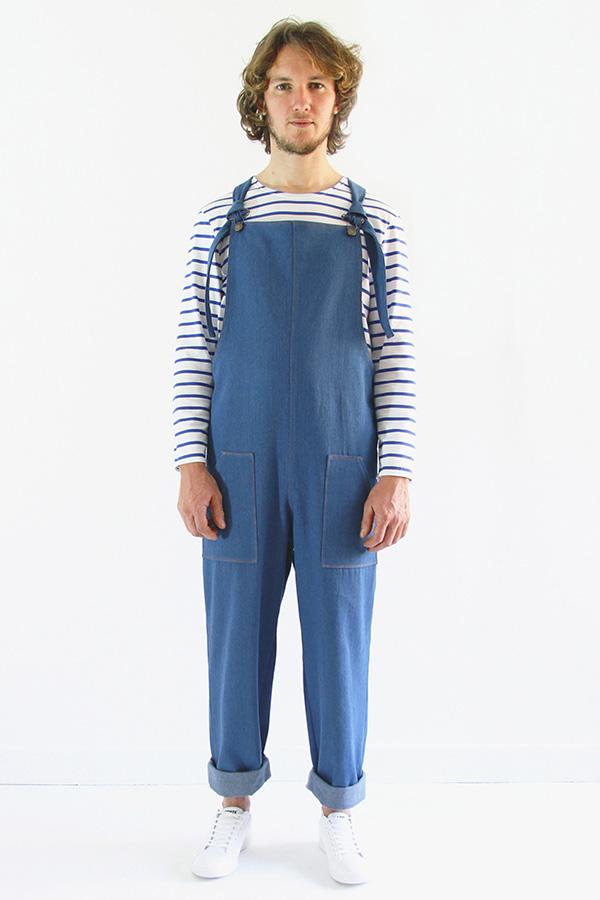 I AM Patterns Patron Couture Colibri Salopette Short Hommes