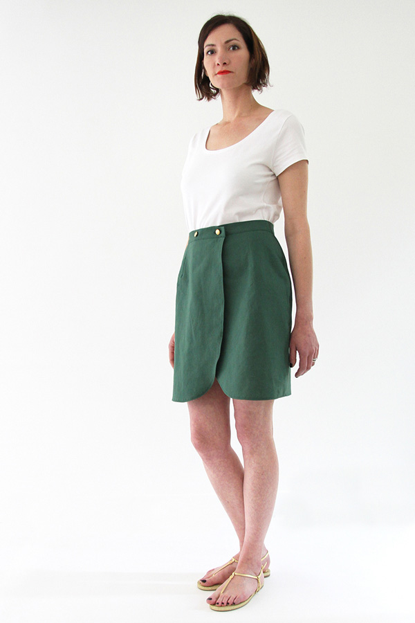 I AM Patterns - Sewing pattern Malo wrap skirt - tulip shape