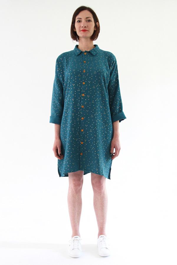 I AM Patterns - Sewing pattern - Lucienne boxy shirt dress tunic - front tunic