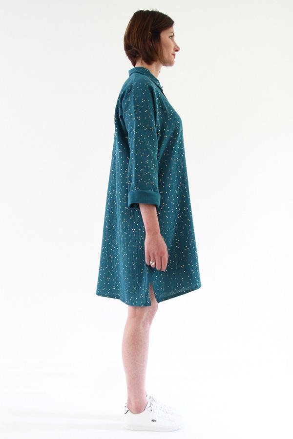 I AM Patterns - Sewing pattern - Lucienne boxy shirt dress tunic - profile tunic