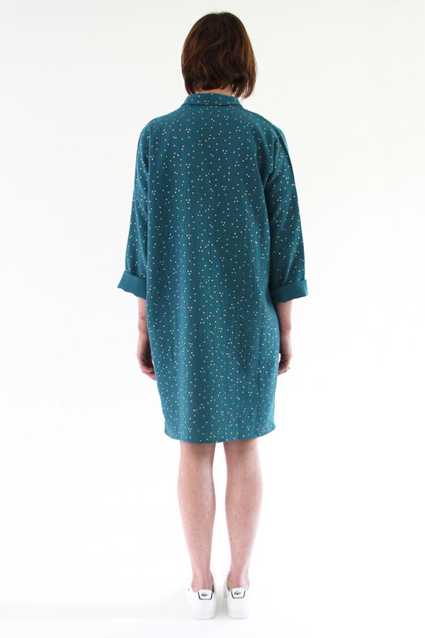 I AM Patterns - Sewing pattern - Lucienne boxy shirt dress tunic - back tunic