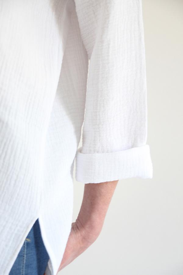 I AM Patterns - Sewing pattern - Lucienne boxy shirt dress tunic - detail shirt sleeve
