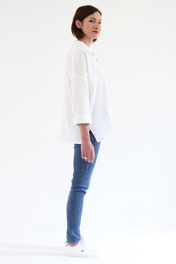 I AM Patterns - Sewing pattern - Lucienne boxy shirt dress tunic - profile shirt