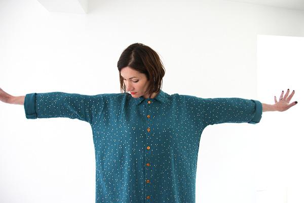 I AM Patterns - Sewing pattern Lucienne dress shirt