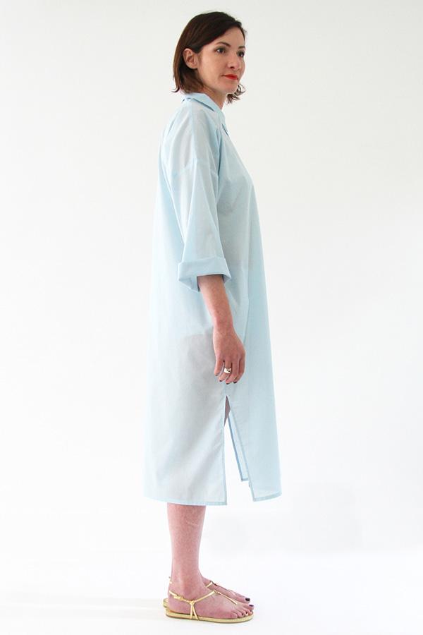 I AM Patterns - Sewing pattern - Lucienne boxy shirt dress tunic - profile shirt-dress