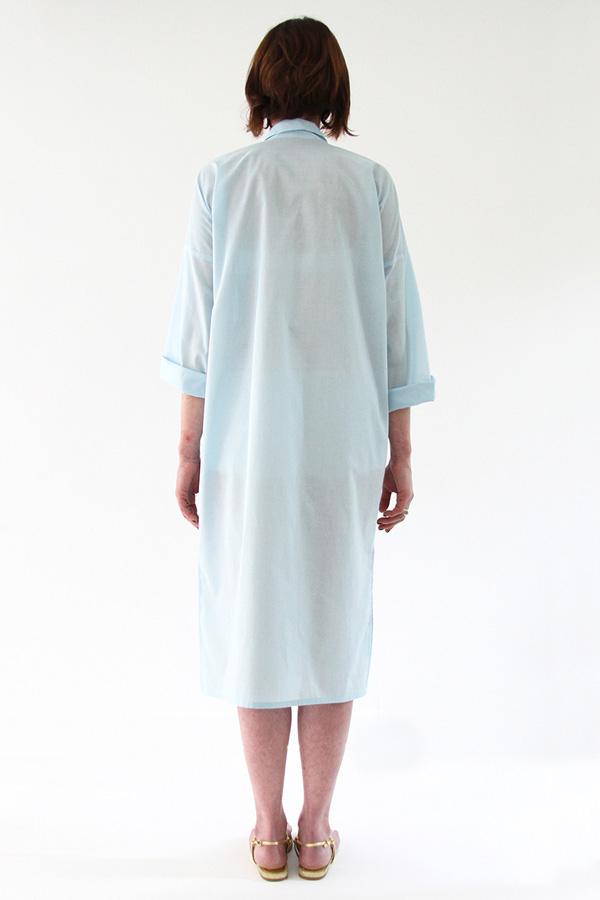 I AM Patterns - Sewing pattern - Lucienne boxy shirt dress tunic - back shirt-dress