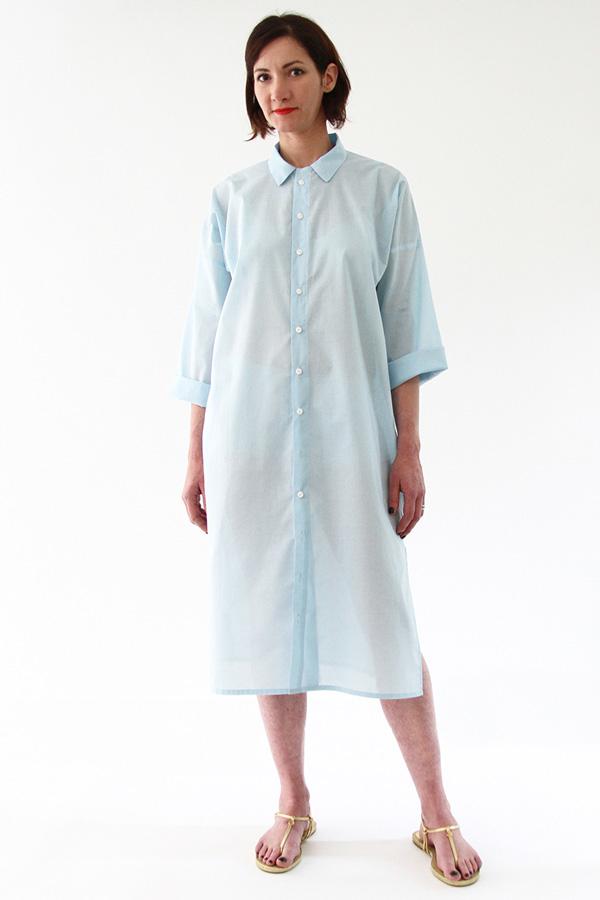 I AM Patterns - Sewing pattern - Lucienne boxy shirt dress tunic - front shirt-dress