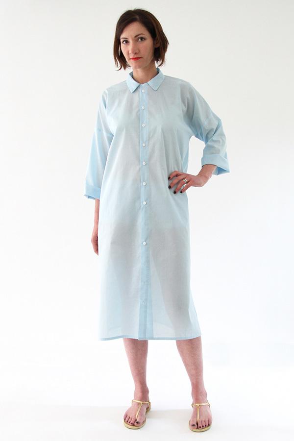 I AM Patterns - Sewing pattern - Lucienne boxy shirt dress tunic - front shirt-dress 2