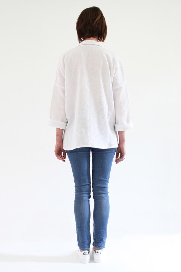 I AM Patterns - Sewing pattern - Lucienne boxy shirt dress tunic - back shirt